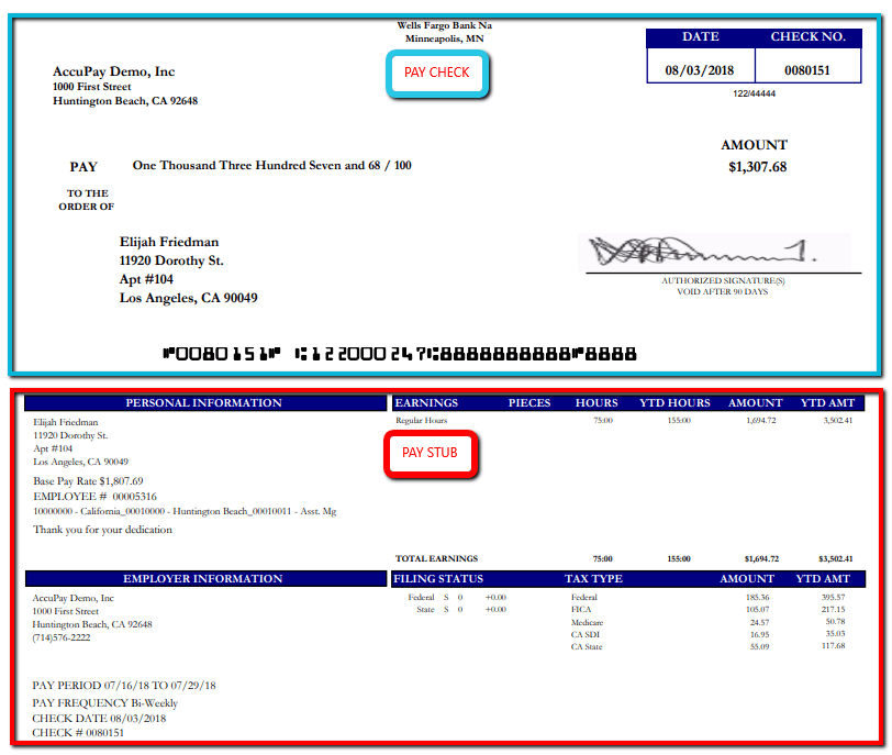 Pay_Check_Vs_Pay_Stub